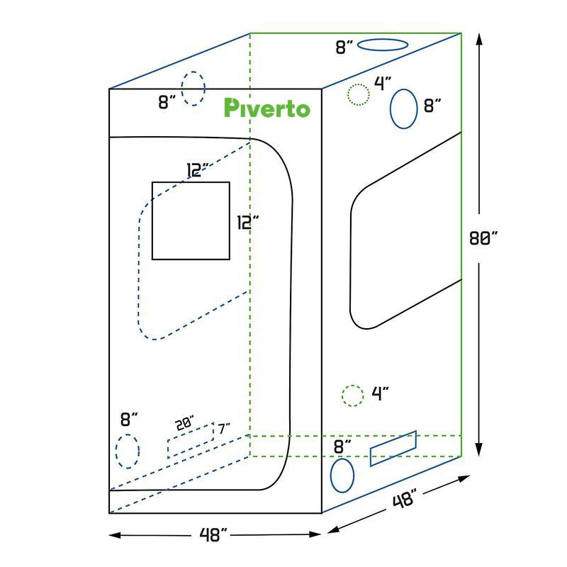 Indoor Growing Kit 4x4 - Piverto
