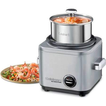 Cuisinart 4 Cup Electric Rice Cooker - Stainless Steel CRC-400