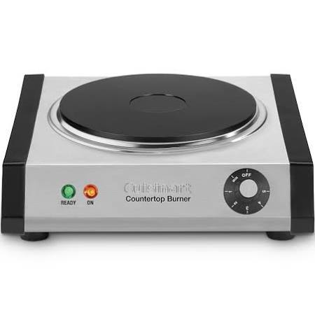 Cuisinart CB-30 Electric Hot Plate - 1300W - Brushed Stainless Steel