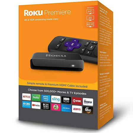 Roku Premiere 3920R 4k/HDR/HD Media Streamer