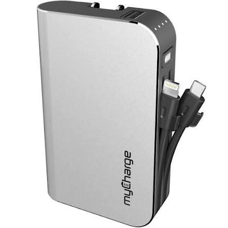 myCharge - HubPlus 6700 mAh Portable Charger for Most Lightning-Equipped Apple® Devices - Gray