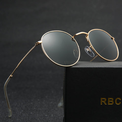 Round Framed Sunglasses mirror