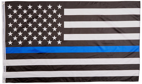 Thin Blue Line USA Flag || Police Appreciation Flag 3x5 Feet