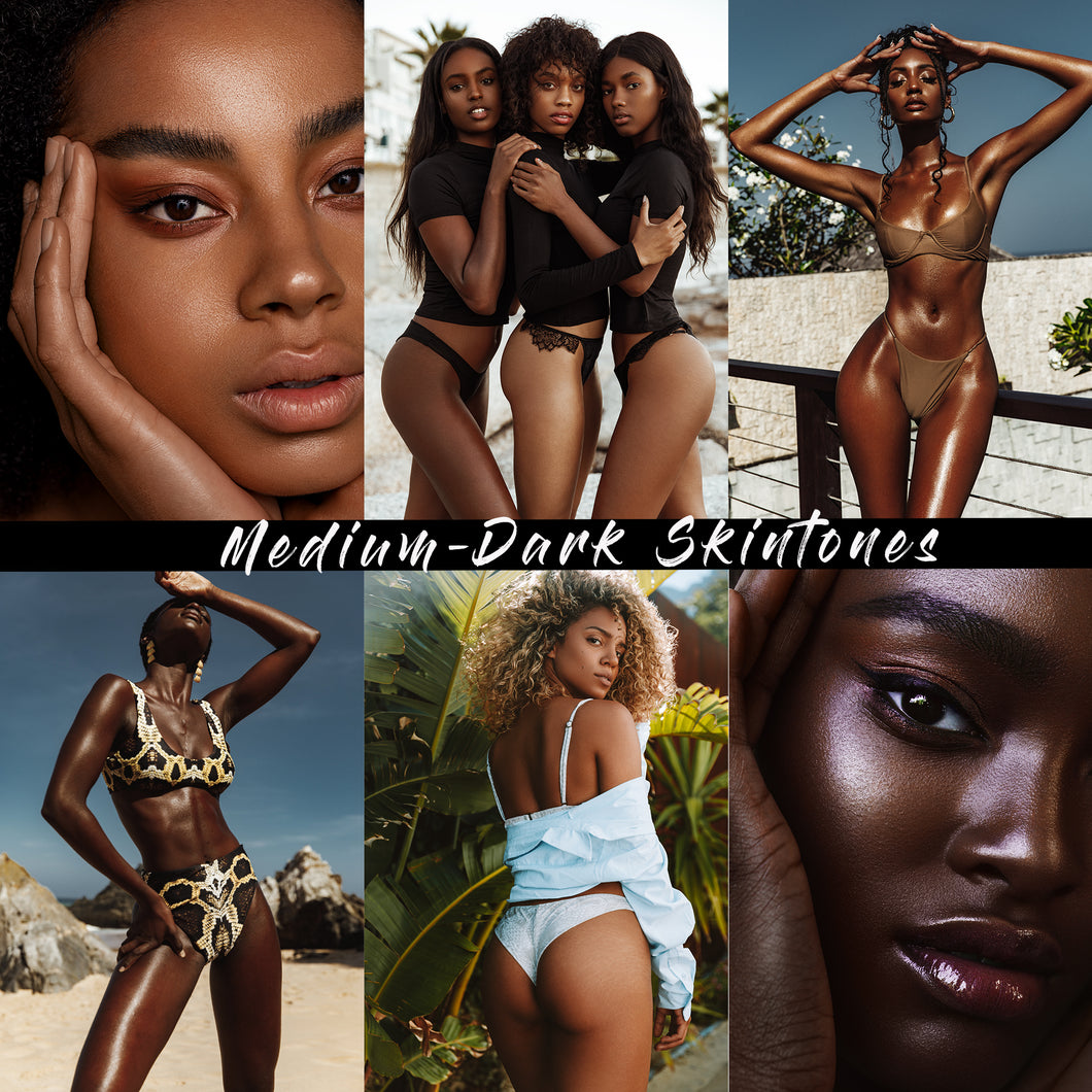 NEW: Medium-Dark Skintones Lightroom Presets DESKTOP