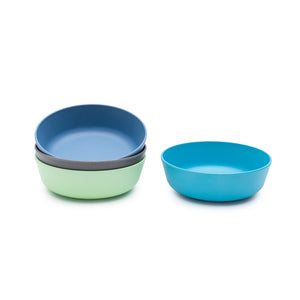 bobo&boo Non-Toxic, BPA-Free set of 4 Bamboo Toddlers & Kids Bowls for Cereal & Soup - Coastal