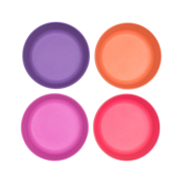bobo&boo Non-Toxic, BPA-Free set of 4 Bamboo Toddlers & Kids Bowls for Cereal & Soup - Sunset