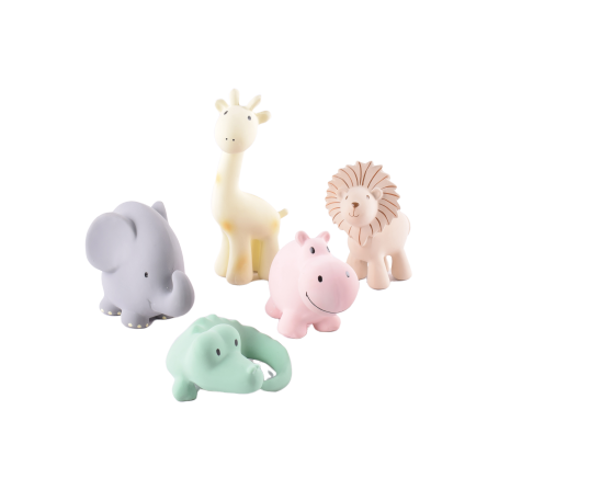 "Tikiri ""My Zoo Animals"" Combo Pack of 4 Animals"