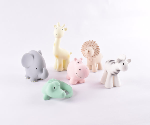 "Tikiri ""My Zoo Animals"" - HIPPO Natural Rubber Toy"