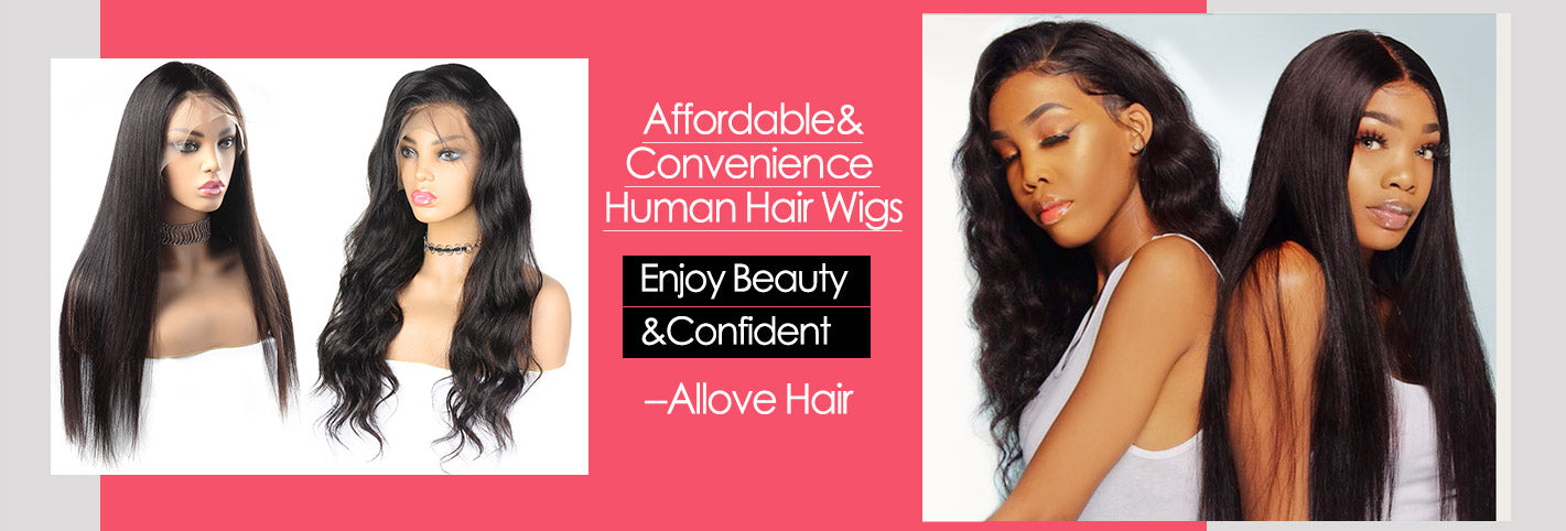Deep Wave Hair Transparent 13*4 Lace Front Wig 10A Grade Virgin Remy Human Hair-Allove Hair