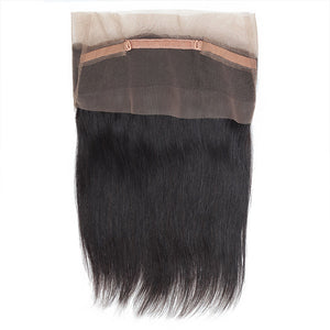 Allove Hair Virgin Brazilian Straight Hair 2 Bundles With 360 Lace Frontal Closure : ALLOVEHAIR