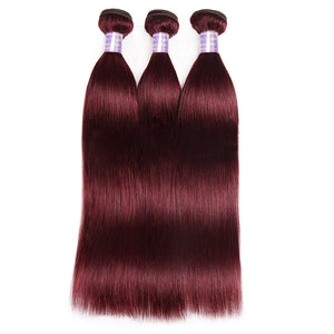 Allove Hair More Popular 99 J# Straight Human Hair 3 Bundles Hair Extensions : ALLOVEHAIR