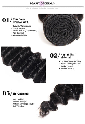 Wholesale 8A Deep Wave Virgin Human Hair 10 Bundles Deal : ALLOVEHAIR