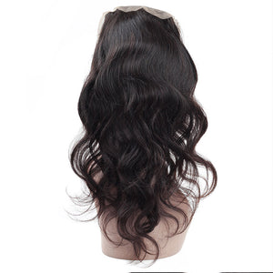 Malaysian Body Wave 3 Bundles with 360 Lace Closure Virgin Human Hair : ALLOVEHAIR
