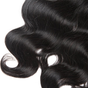 Allove Hair Peruvian Body Wave Virgin Hair 2 Bundles with 360 Lace Frontal Closure : ALLOVEHAIR