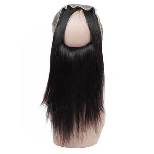 Peruvian Straight Hair 2 Bundles with 360 Lace Frontal Closure : ALLOVEHAIR