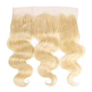 Allove Pure 613 Blonde Body Wave Human Hair 3 Bundles with Frontal Body wave Hair : ALLOVEHAIR