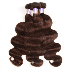 Allove Hair  4# Body Wave Human Hair 3 Bundle Deals Hair Extensions : ALLOVEHAIR
