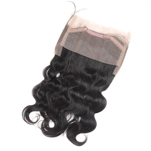 Malaysian Body Wave 2 Bundles with 360 Lace Frontal Closure : ALLOVEHAIR
