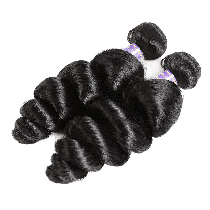 Allove Hair Loose Wave Virgin Human Hair Weaves One Bundle : ALLOVEHAIR