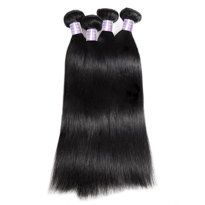 Allove Hair Indian Straight 4 Bundles Virgin Human Hair : ALLOVEHAIR