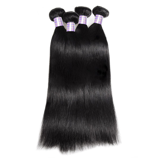 Allove Hair Virgin Peruvian Straight Human Hair 4 Bundles Human Hair Extensions : ALLOVEHAIR