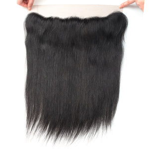 Allove Hair Brazilian Straight Hair 4 Bundles with 13*4 Lace Frontal Closure : ALLOVEHAIR