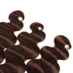 Allove Hair Ombre 4# Body Wave Human Hair 3 Bundle Deals Hair Extensions : ALLOVEHAIR