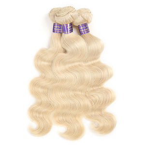 Allove Hair  Human Hair 100% Honey blonde 613 Body Wave 3 Bundles Hair Extensions : ALLOVEHAIR