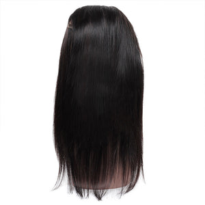 Allove Hair Virgin Brazilian Straight Hair 3 Bundles With 360 Lace Frontal Closure : ALLOVEHAIR