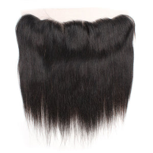 Malaysian Straight Hair 4 Bundles with 13*4 Lace Frontal Human Hair : ALLOVEHAIR