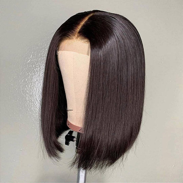 Overnight Shipping Available For USA Flash Sale 2*6 Lace Part Straight Bob Human Hair Wig
