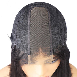2*6 Lace Part Straight Short Bob Wig Human Hair Wigs