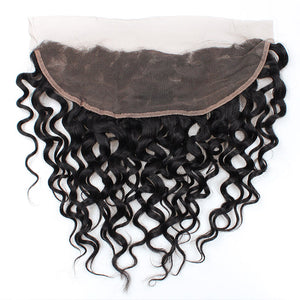 Allove Hair Indian Virgin Hair Water wave 4 Bundles with 13*4 Lace Frontal : ALLOVEHAIR