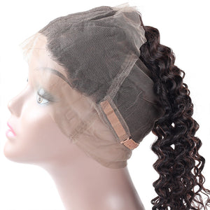 Allove Hair Deep Wave 360 Lace Frontal Closure Virgin Human Hair : ALLOVEHAIR