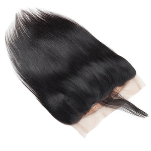 Allove Hair Straight 360 Lace Frontal Closure Virgin Human Hair : ALLOVEHAIR