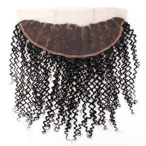 Allove Hair Curly 13*4 Lace Frontal Closure Virgin Human Hair : ALLOVEHAIR