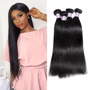 Peruvian Deep Wave 3 Bundles with 4*4 Lace Closure Virgin Human Hair : ALLOVEHAIR