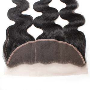 Allove Hair Brazilian Body Wave Virgin Human Hair 4 Bundles with Lace Frontal : ALLOVEHAIR