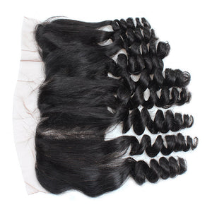 Allove Hair Malaysian Loose Wave Virgin Human Hair 4 Bundles with Lace Frontal : ALLOVEHAIR