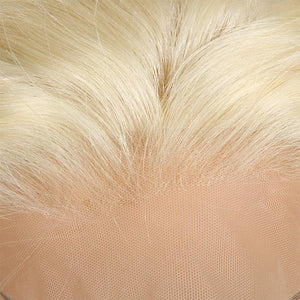 613 Blonde Color Straight Hair 4*4 Lace Front Wig 10A Grade Human Hair Wigs 150% Density : ALLOVEHAIR