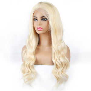 613 Blonde Color Body Wave Hair 4*4 Lace Front Wig 10A Grade Human Hair Wigs : ALLOVEHAIR