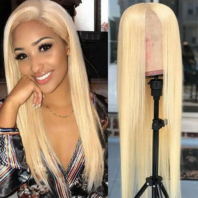 Allove 613 Blonde Color T Part Wig Straight Hair Human Hair Wigs