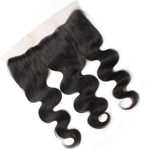 Indian Body Wave 4 Bundles with Lace Frontal Virgin Human Hair : ALLOVEHAIR