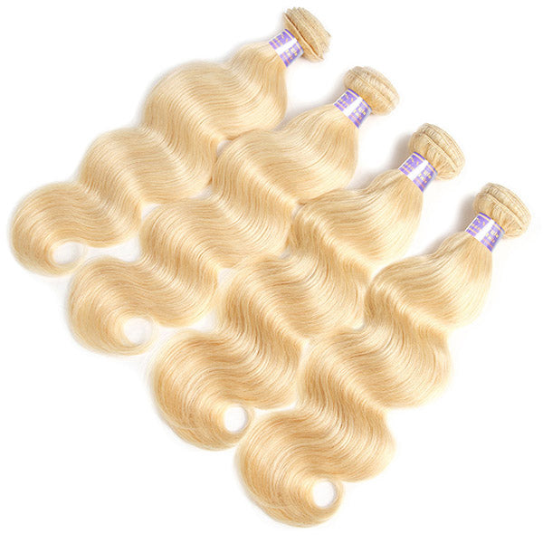 Allove 613 Blonde Body Wave 4 Bundles Human Remy Hair