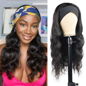 Allove Body Wave Headband Wig Glueless Human Hair Wig 150% Density