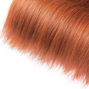 Allove Ginger Color Brazilian 3 Bundles Straight Human Hair Wave