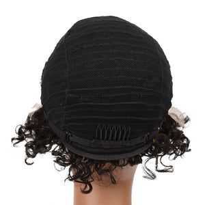 Allove Hair Bob Short Wigs Curly Human Hair Lace Front Wigs For Black Woman : ALLOVEHAIR