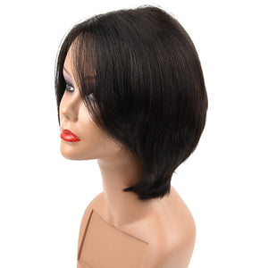 Allove Hair Cheap Short Straight Human Hair Wigs For Black Woman : ALLOVEHAIR