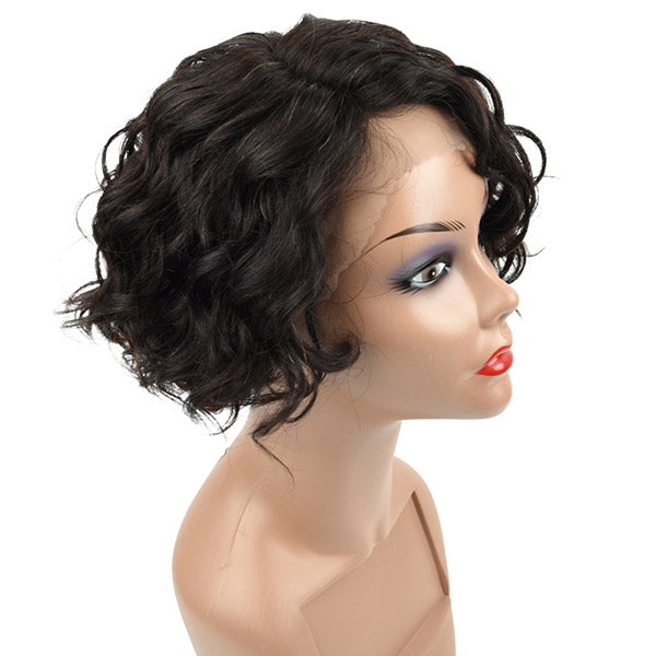 Allove New Arrival Curly short Bob Human Hair Wig For Black Women : ALLOVEHAIR