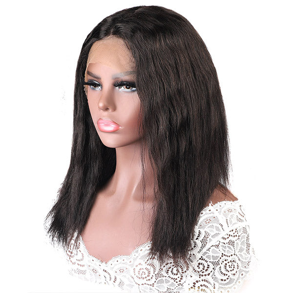 Allove New Arrival Wet And Wave Lace Part Human Hair Wig